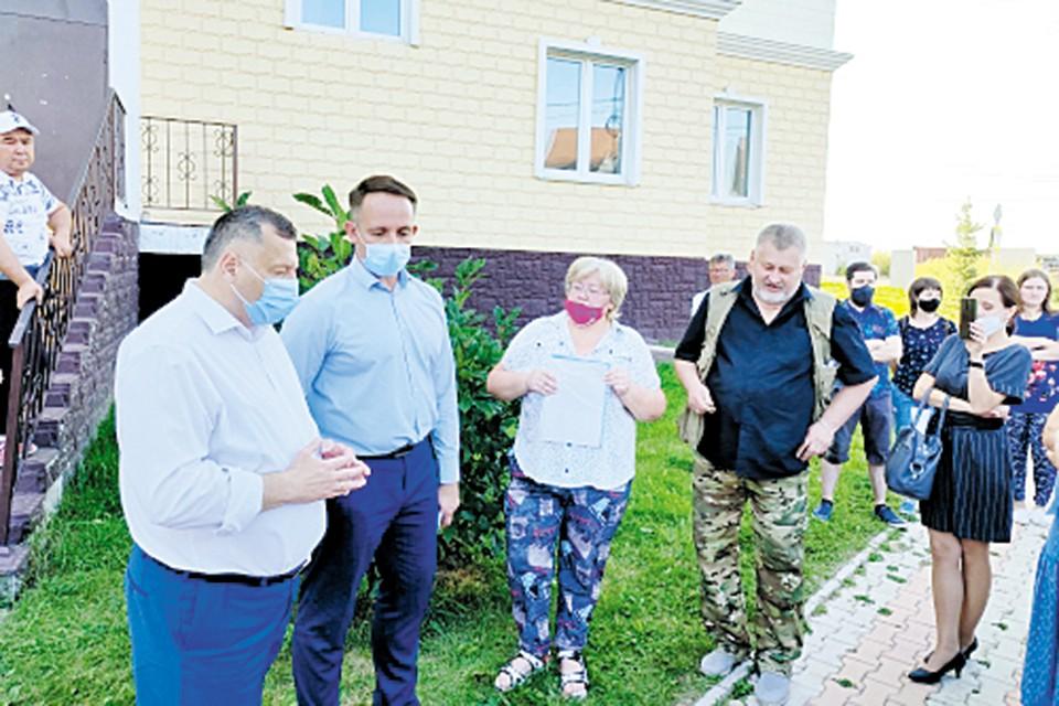 Встреча с жителями дома на улице Удачная
