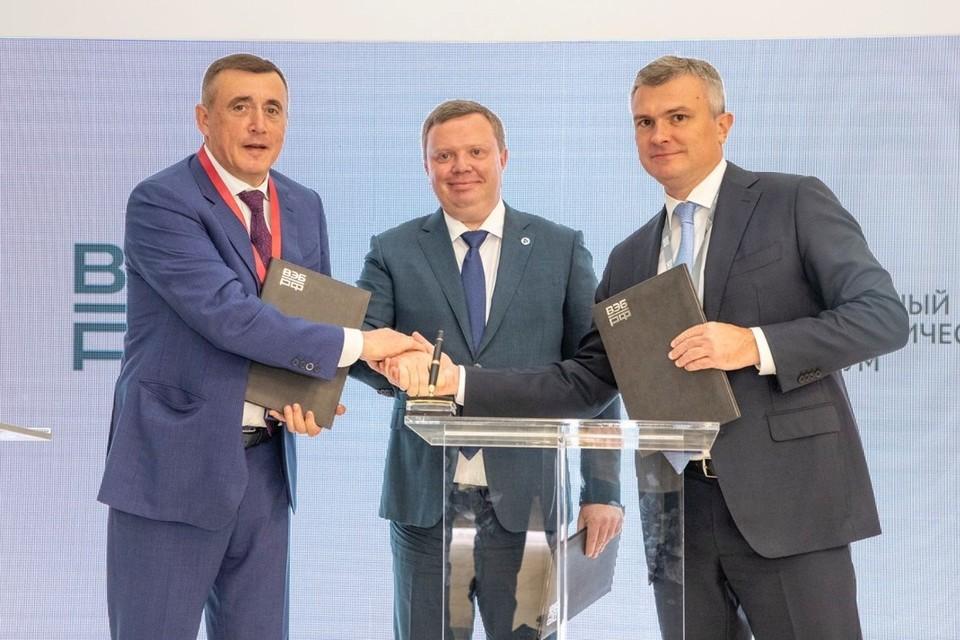 Губернатор подписал соглашение с национальным институтом развития ВЭБ.РФ и госкорпорацией «Росатом»