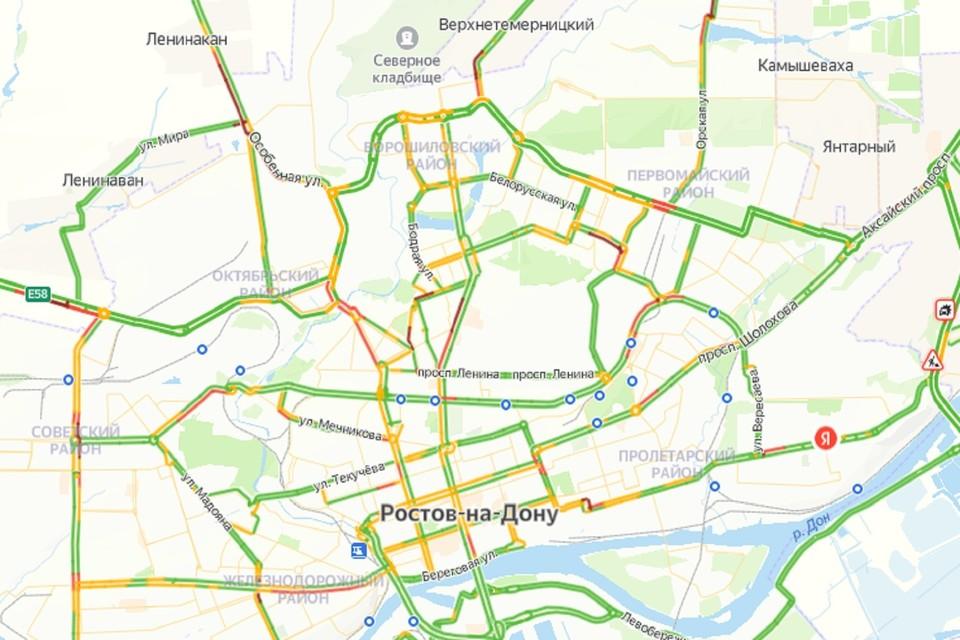 Утренние пробки в Ростове