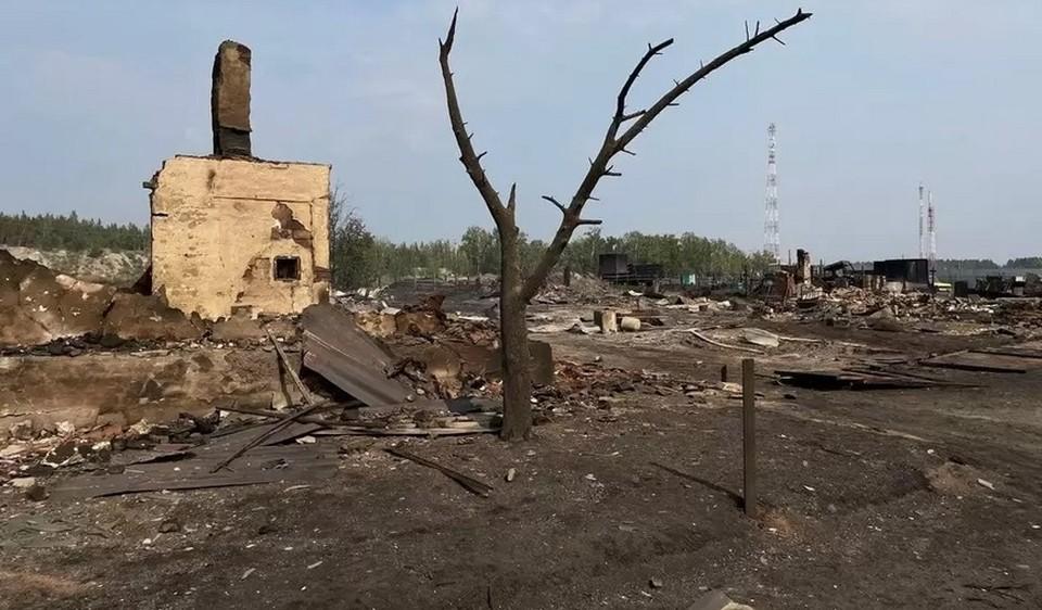 Дома в поселках сгорели дотла. Фото: читатель КП
