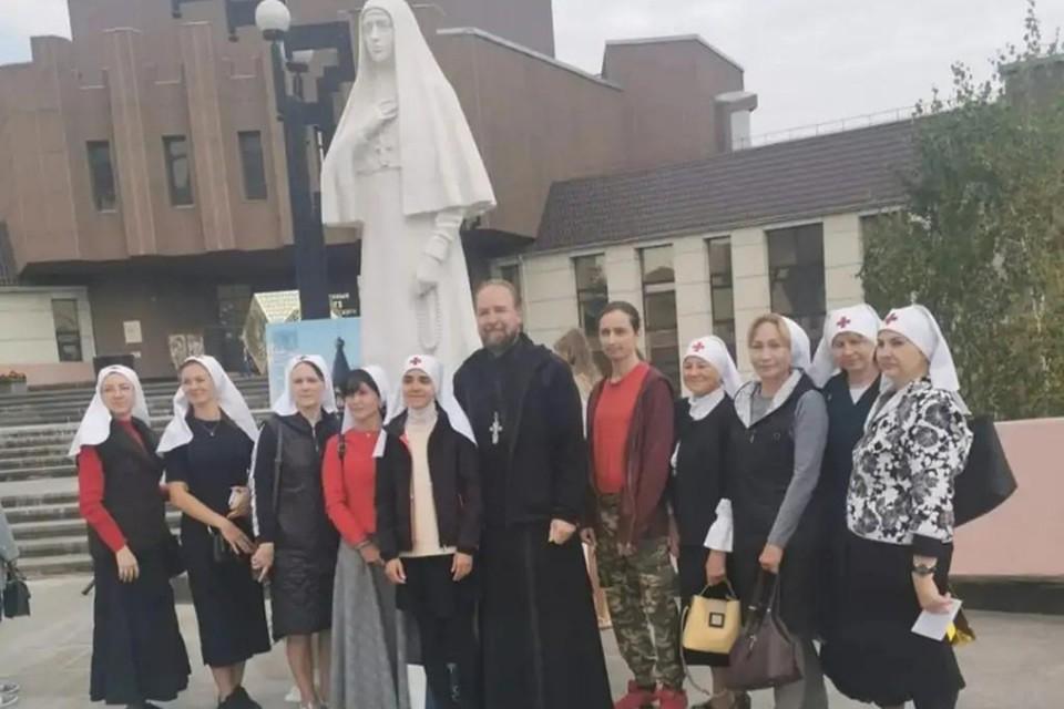 Памятник святой преподобной мученице Елизавете установили в Красноярске. Фото: Красноярская епархия