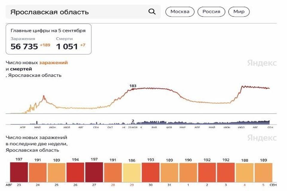 Скриншот Яндекс. Статистика