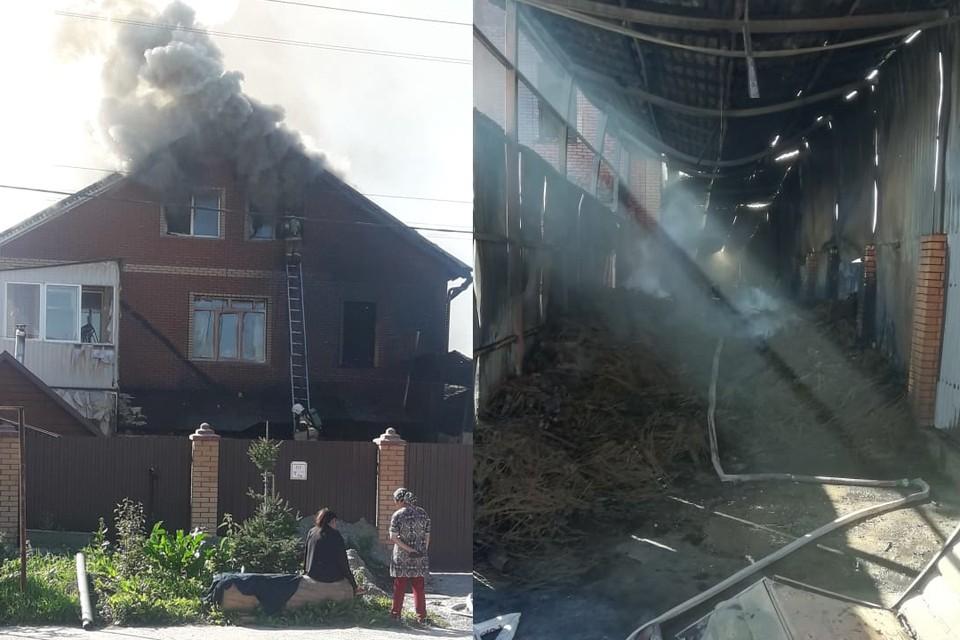 Пламя потушили всего за полчаса. Фото: пресс-служба ГУ МЧС по Новосибирской области
