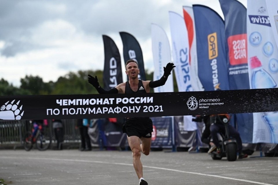Финиширует Владимир Никитин. Фото: краевое правительство.
