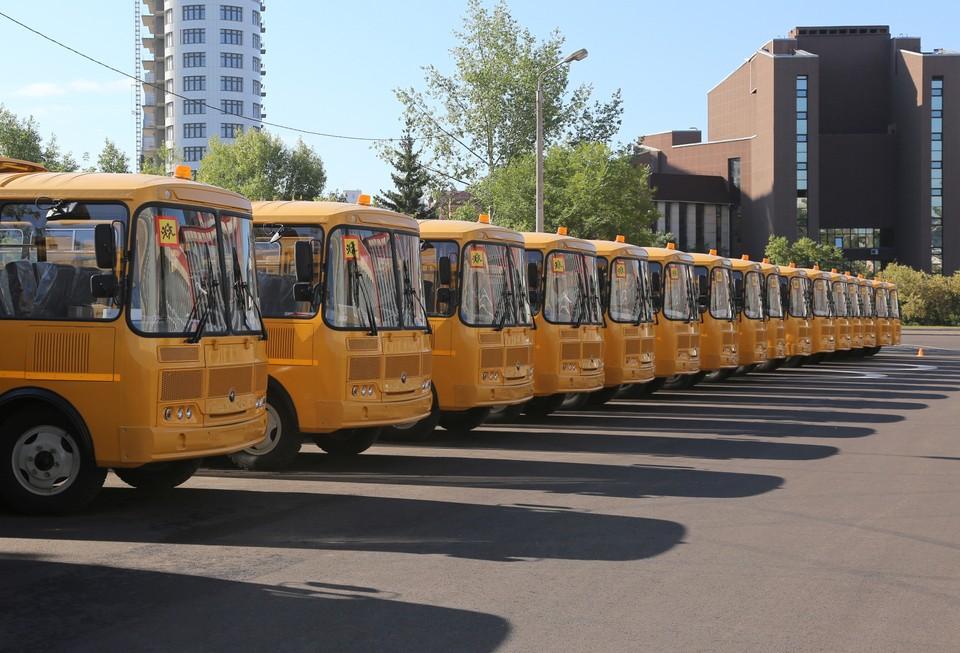 90 новых автобусов закупили для школ в Красноярском крае. Фото: правительство Красноярского края