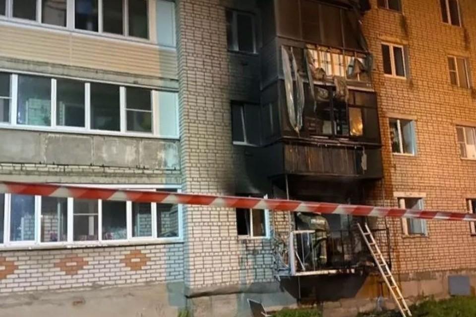 В Тутаевском районе из-за пожара в квартире многоэтажного дома в поселке Константиновский возбуждено уголовное дело. ФОТО: читатель КП