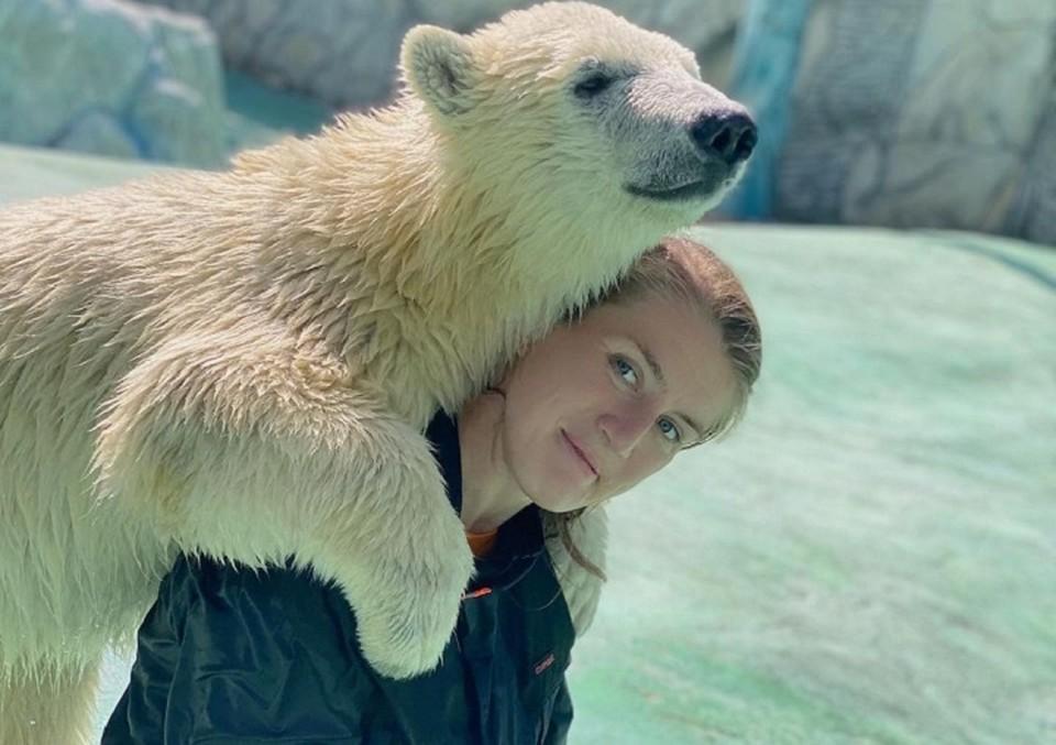 Белые медведи выросли на руках человека. Фото: Елена Миловидова