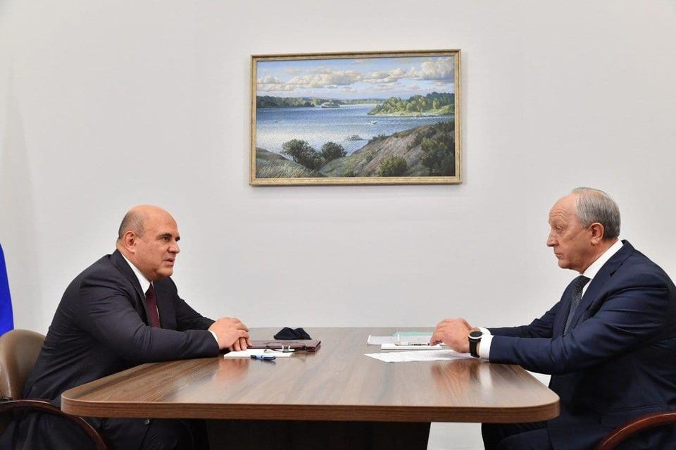 Встреча Мишустина и Радаева в Саратове