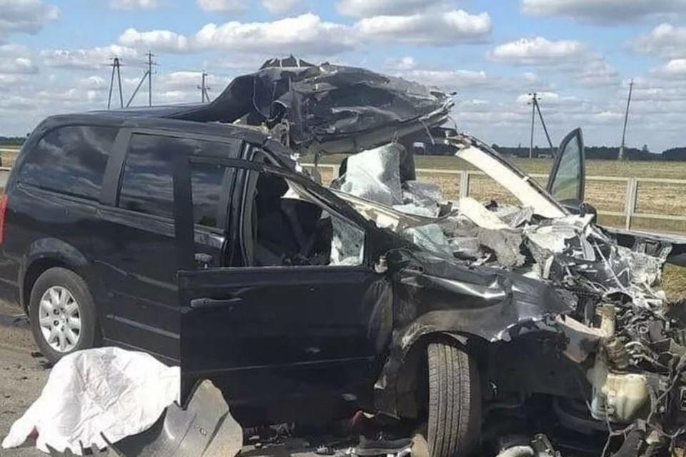 Легковушка влетела в трактор под Червенем – погибли два человека. Фото: УВД Миноблисполкома