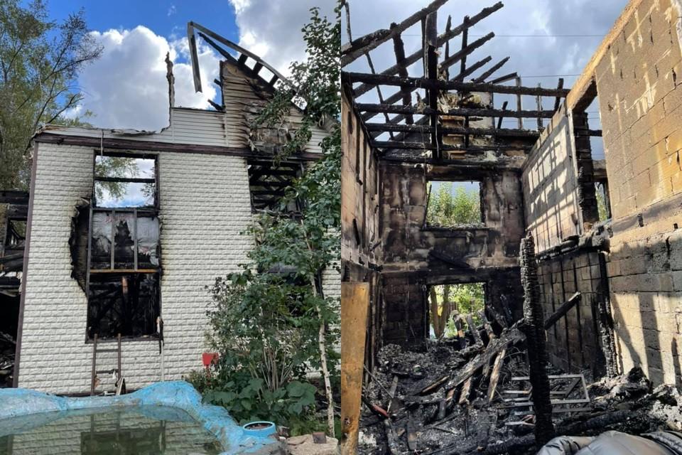Дом семьи художников полностью сгорел Фото: facebook.com/vitoulyche
