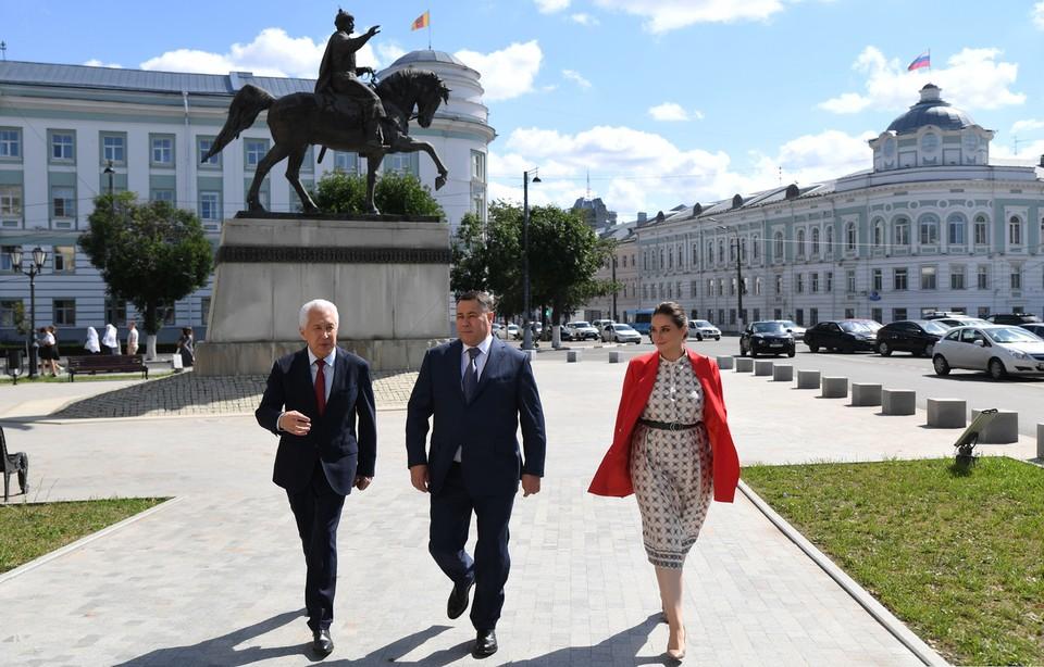 Игорь Руденя, Владимир Васильев, Юлия Саранова. Фото: Александр Константинов