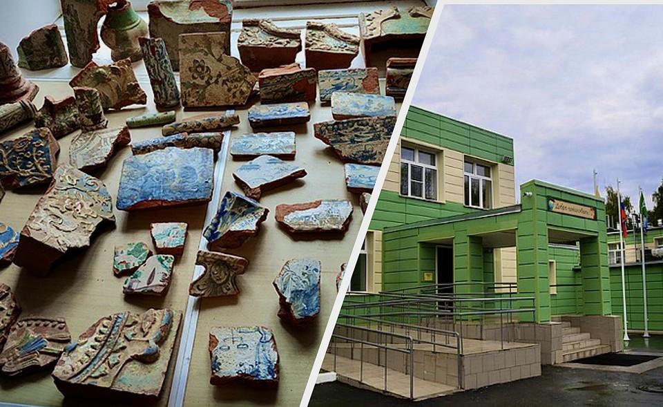 Часть экспозиции с раскопа Желтикова монастыря и школа в Новозавидовском. Фото: ТИА