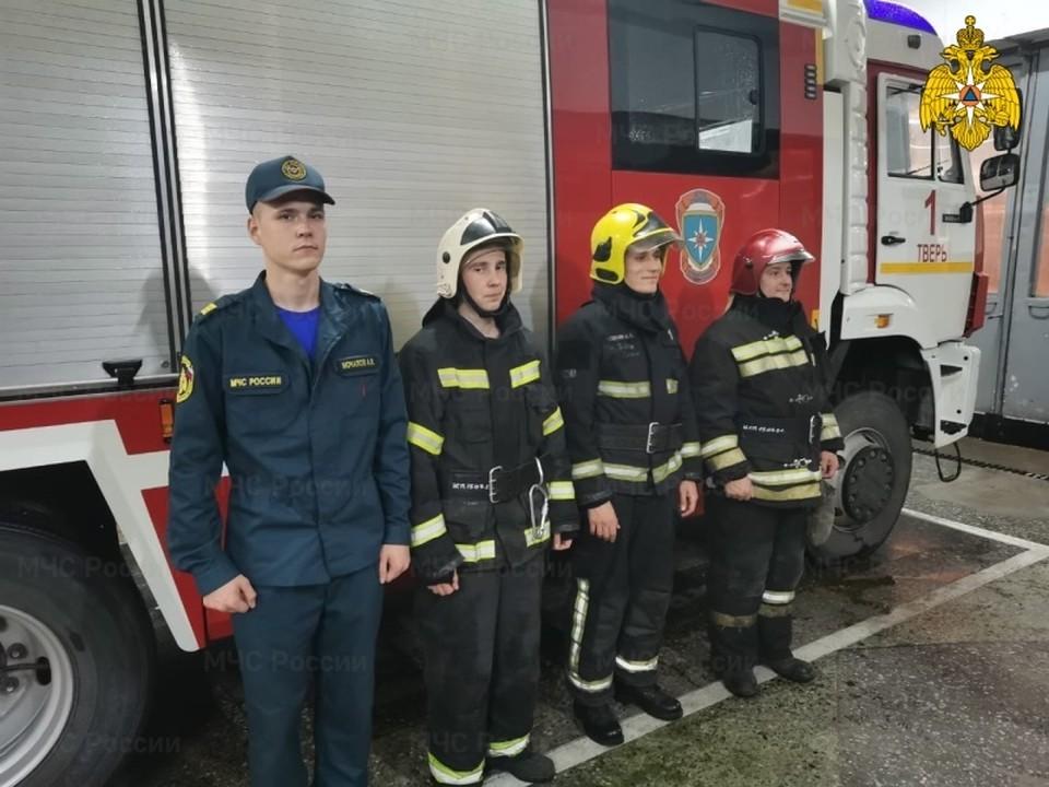 Пожарные спасли женщину из горящей квартиры Фото: ГУ МЧС России по Тверской области