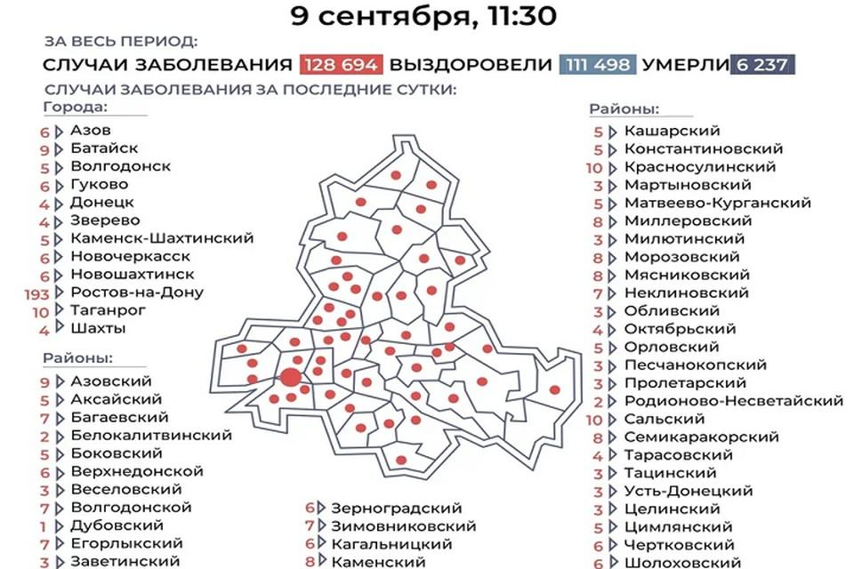 Положительные тесты подтвердили в 52 городах и районах Дона. Фото: пресс-центр по борьбе с COVID-19