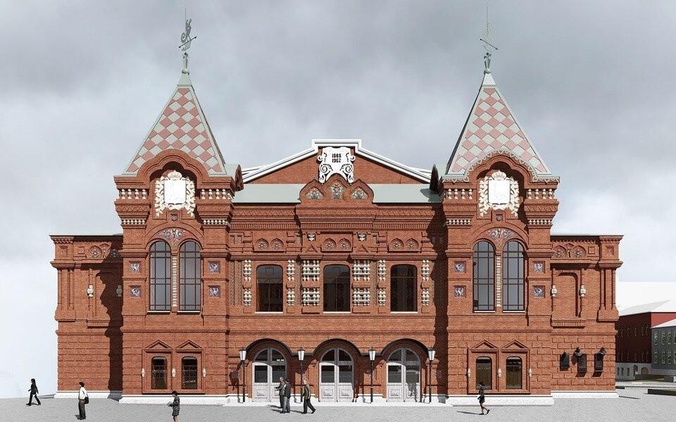 Эскиз фасада самарского драмтеатра после реконструкции. Фото: Дмитрий Орлов