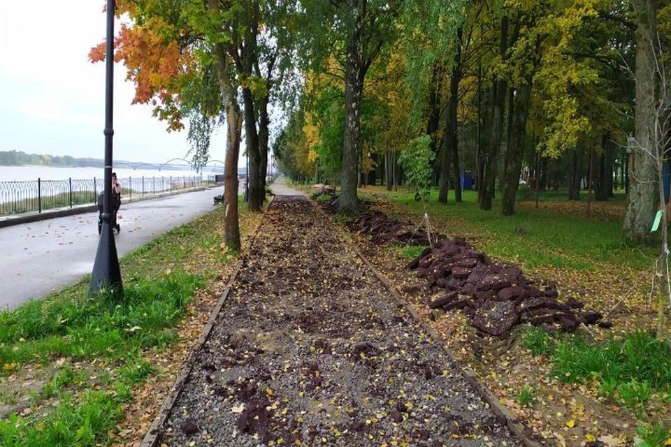 В Рыбинске будут заново перекладывать 150 метров велодорожки