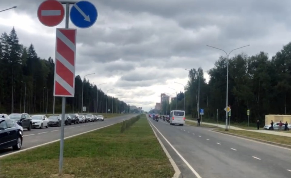 Продолжение проспекта Ленина в Обнинске.