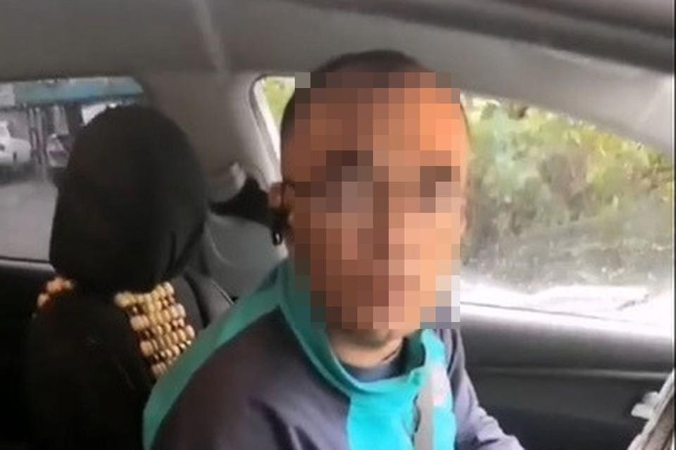 Водитель оставил девушку на улице. Фото: скриншот из видео