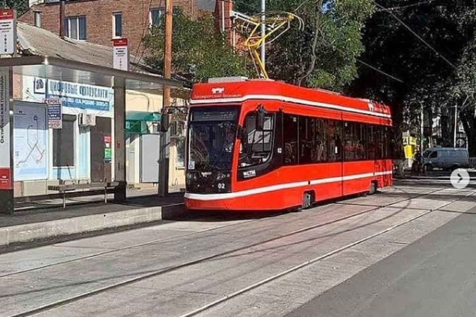 """В Таганроге запустили первый обновленный маршрут трамвая. Фото: Инстаграм """"Таганрогский трамвай"""""""