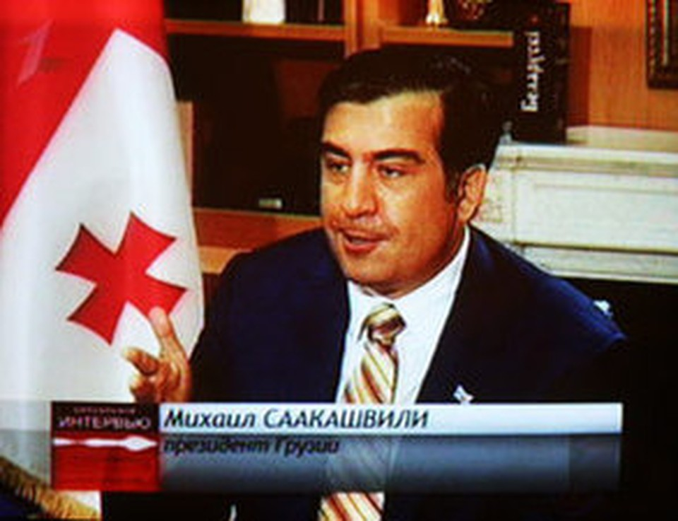Президент Грузии в эфире Первого канала Беларуси