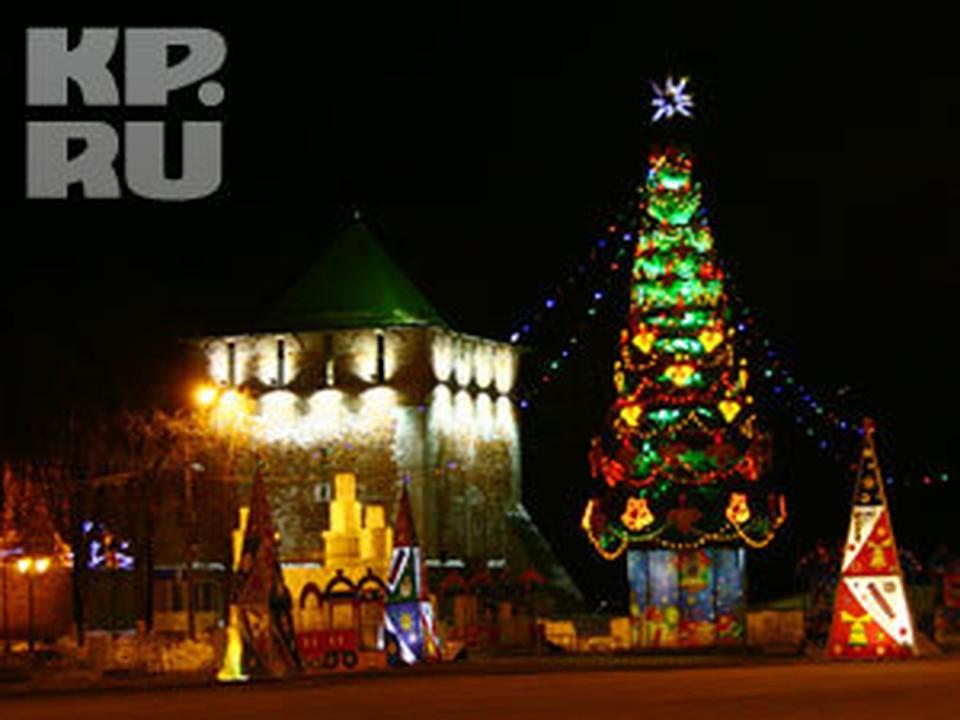 После празника участники минига пошли на Минина - отмечать Новый год.