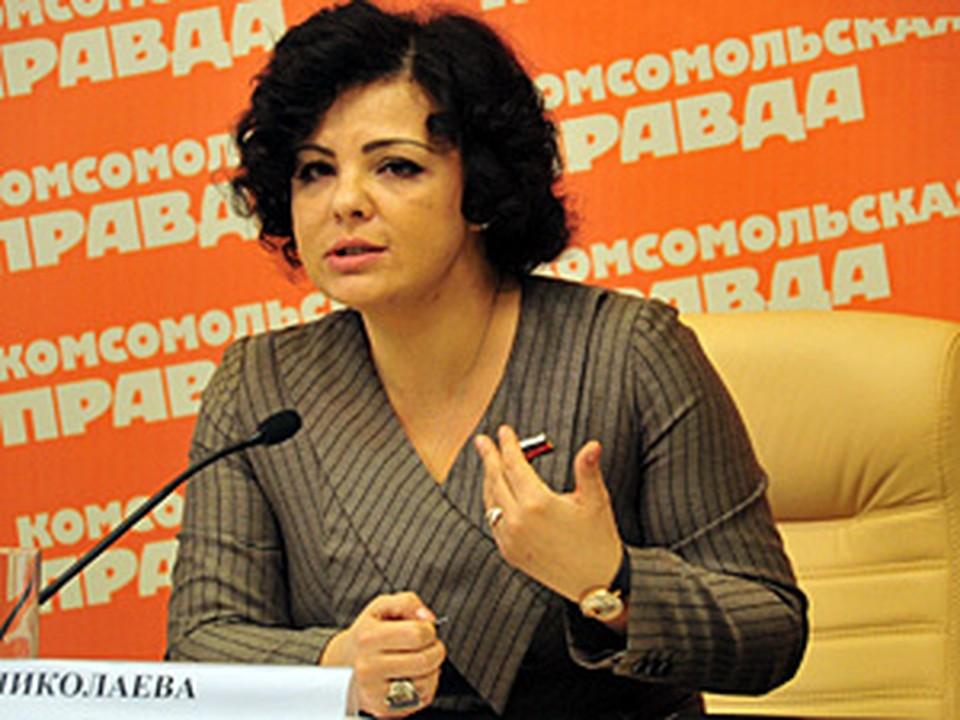 Депутата Госдумы РФ Елена Николаева