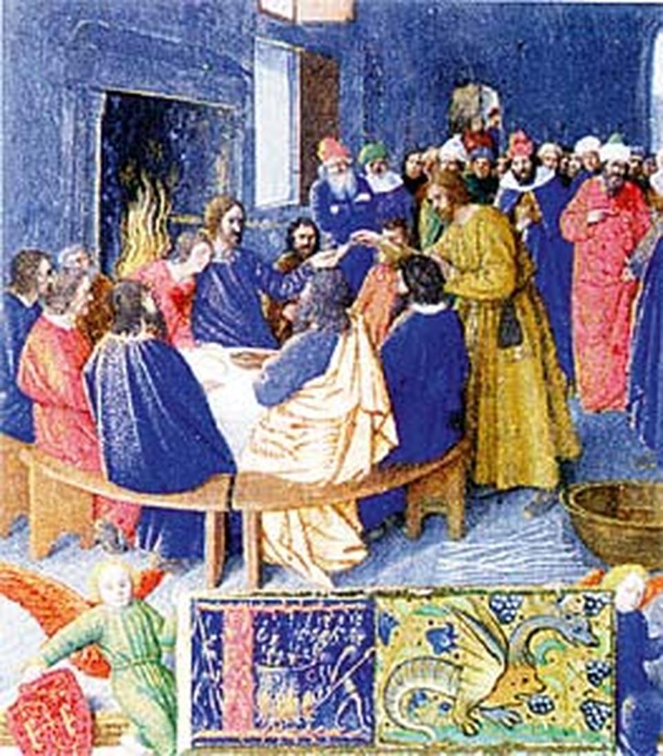 На этих средневековых «Вечерях» рядом с Христом изображена женщина. По крайней мере, так считают сторонники Брауна.