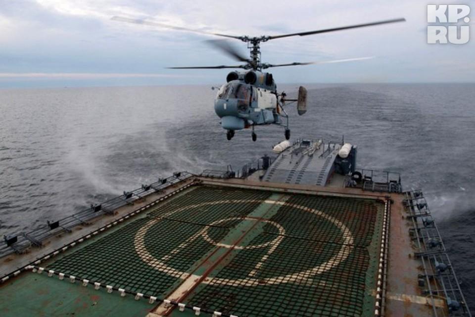 Собрат этого вертолета неудачно приземлился на острове Котельный.