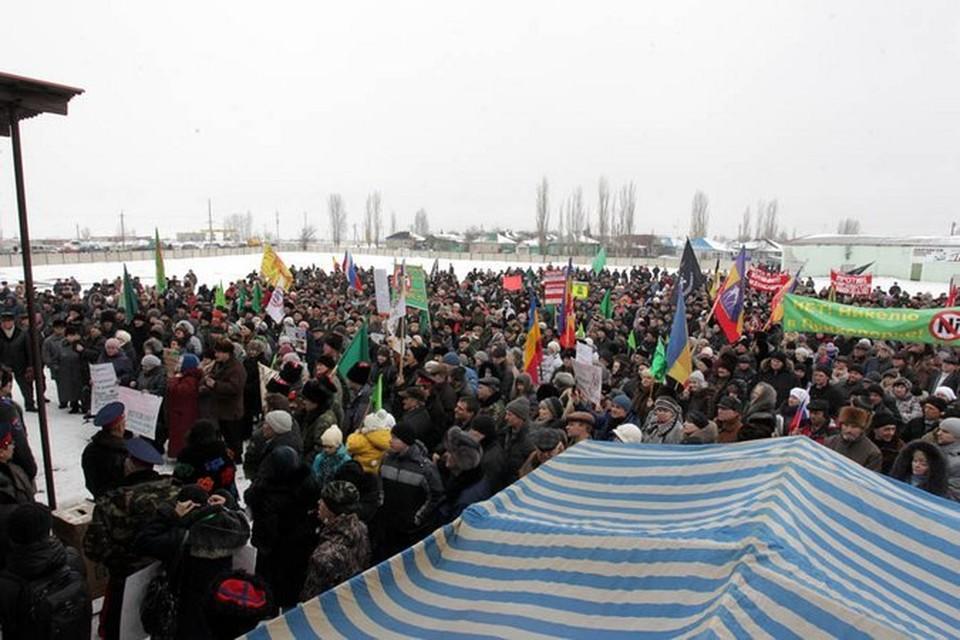 На митинг против добычи никеля собрались жители не только Воронежской, но и соседних областей.