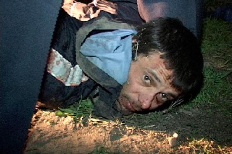Сергей Помазун в момент задержания