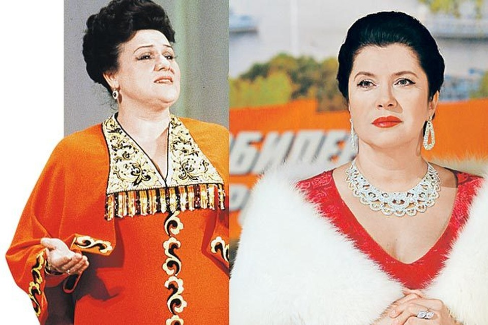 Актриса Вера Сотникова (справа) исполнила роль Людмилы Георгиевны  в зените славы.