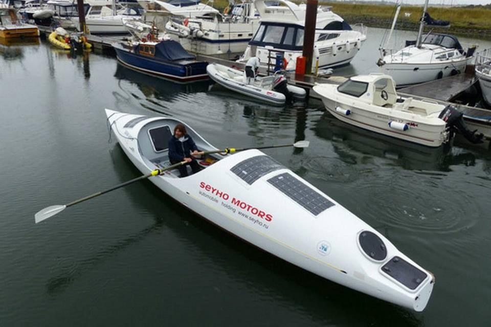 Федор Конюхов на этой лодке собирается пересечь Тихий океан.