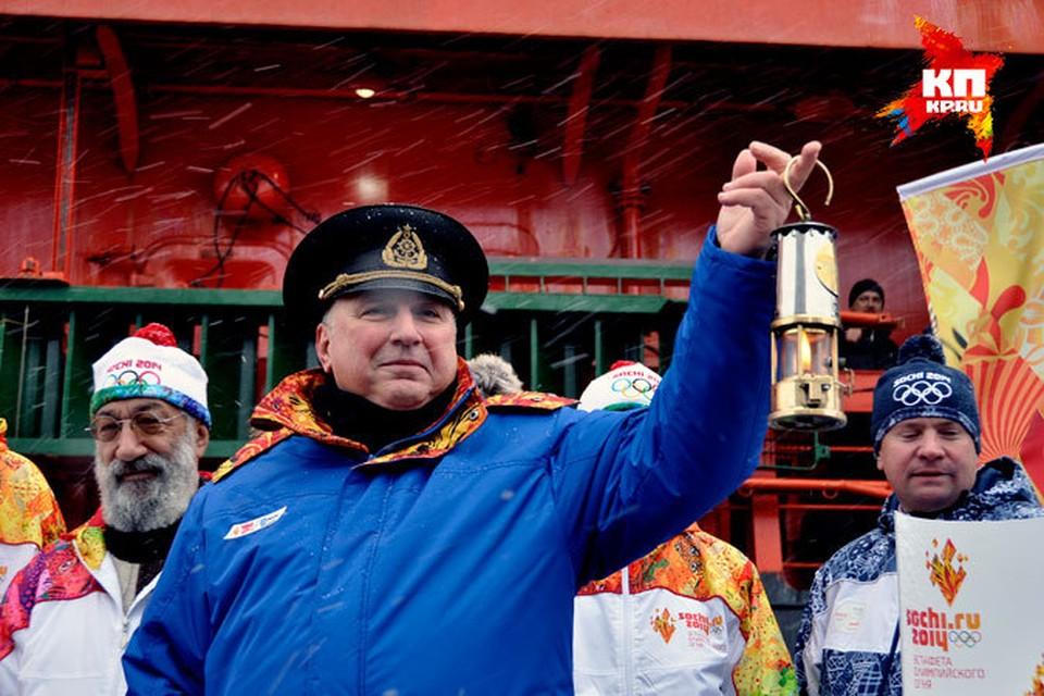 Капитан ледокола «50 лет Победы» Валентин Давыдянц станет одним из факелоносцев на Северном полюсе.