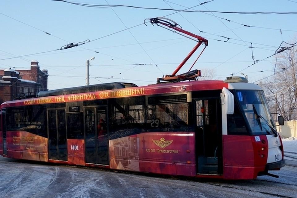Такие трамваи можно будет увидеть только в Купчино