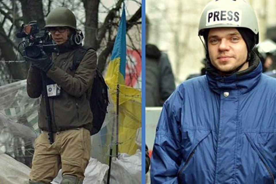 Сергей Марчик (слева) и Юрий Высоцкий пострадали во время съемок в Украине.