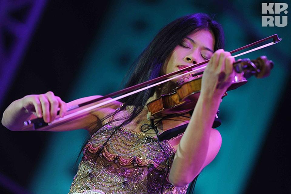 Известная скрипачка Ванесса Мэй