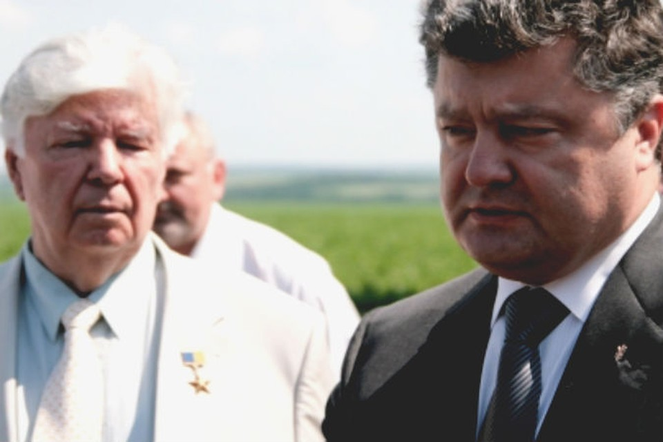 Отец и сын: Алексей и Петр Порошенко.
