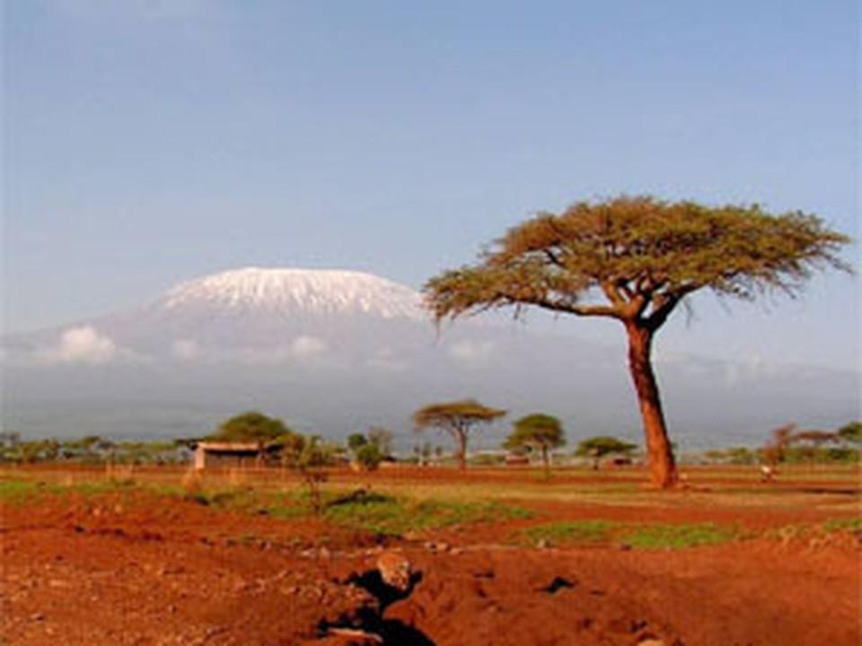 Килиманджаро — высочайшая точка Африки.