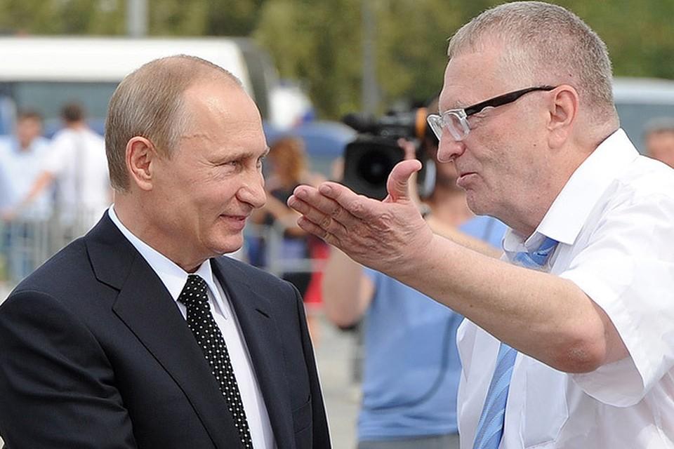 Жириновский предложил Владимиру Путину принять титул «верховного правителя»