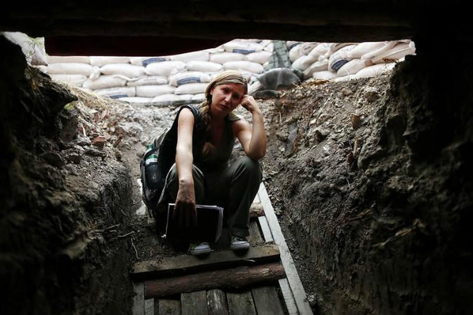 Одно из последних фото, которые журналисты успели сделать в зоне АТО. Фото: Facebook Евгении Королевой