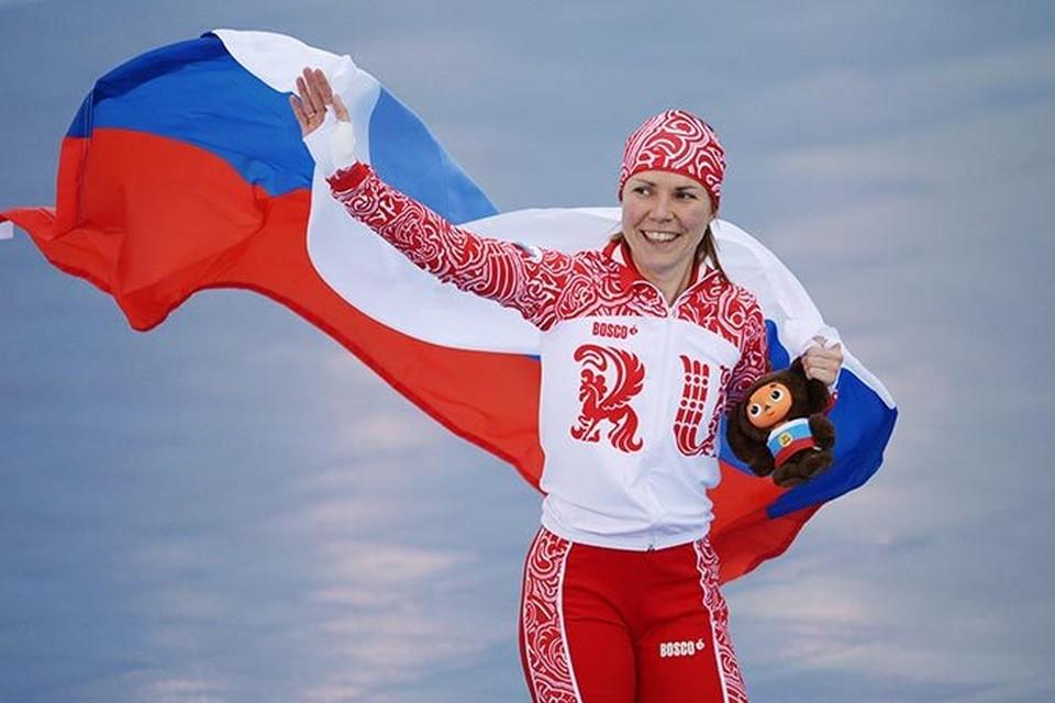 Конькобежка Ольга Граф принесла сборной России первую награду на домашних Играх.                Фото: РИА Новости