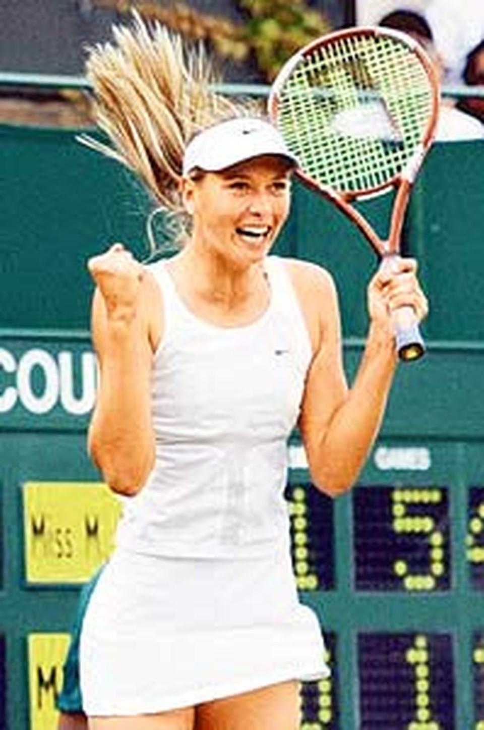 Маша Шарапова учится без отрыва от ракетки.