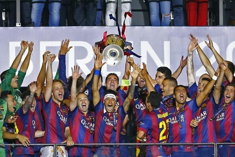 """""""Барселона"""" в пятый раз в своей истории выиграла Лигу Чемпионов."""