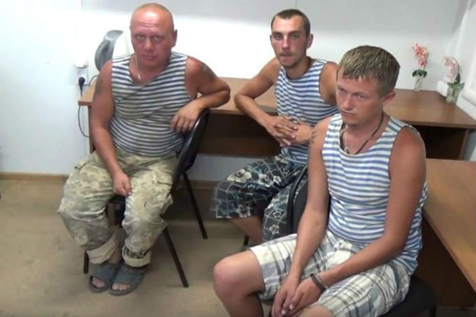 """Украинские десантники говорят что пришли с """"благими намерениями"""".  Фото: скрин Youtube"""