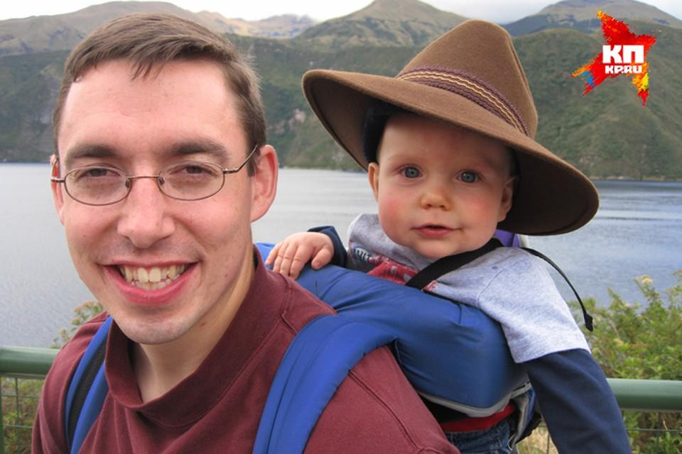Джереми со старшим сыном Сэмуэлом