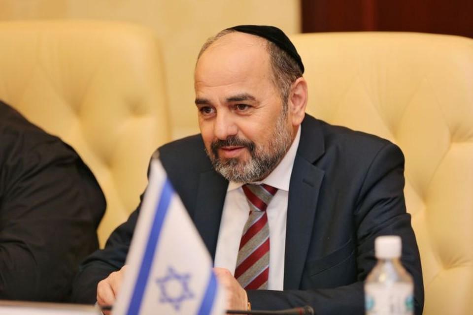Яаков Марги приехал в Крым, чтобы проинспектировать жизнь еврейской общины. Фото: пресс-служба Совмина РК