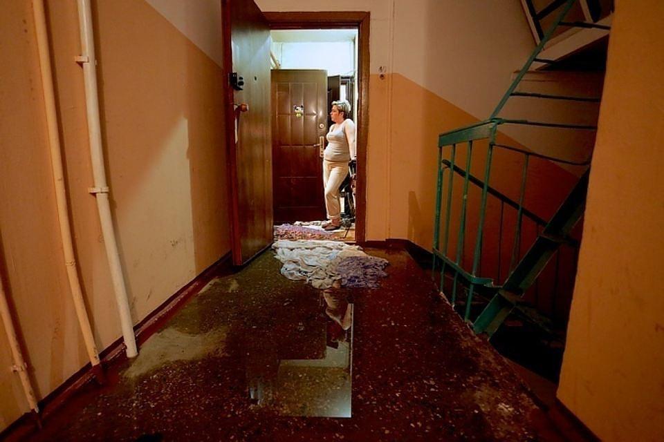 залили квартиру из за аварии