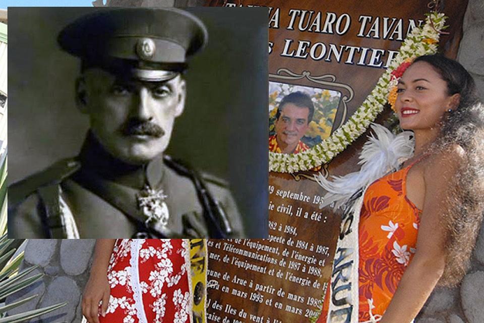 Генерал царской и Белой армий Максим Леонтьев и дочь Бориса Леонтьева Маруся.