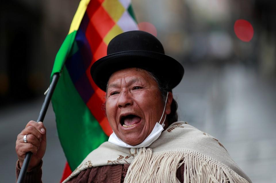 Сторонники экс-президента Боливии Эво Моралеса вышли на улицы Ла-Паса.