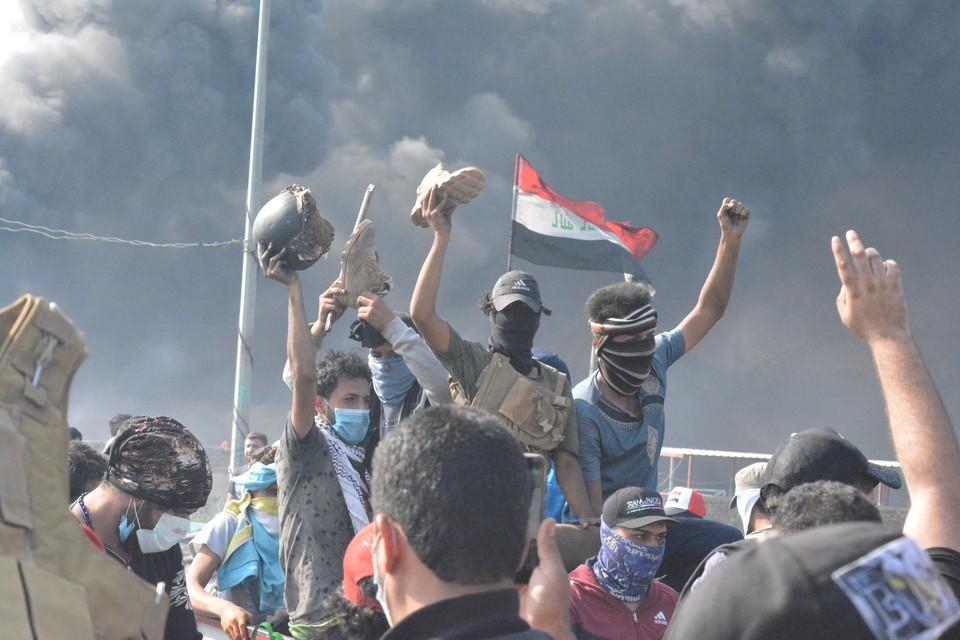 В Ираке не утихают антиправительственные уличные митинги.